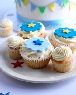Blue star cupcakes
