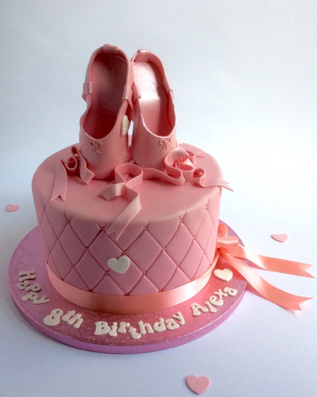 Awesome Ballet Shoes Cake Karens Cakes Personalised Birthday Cards Epsylily Jamesorg