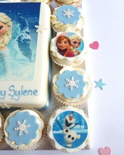 cupcakes with frozen character image