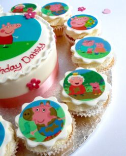 cupcakes with edible image
