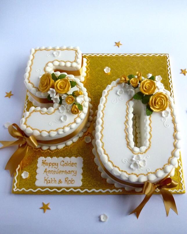50th anniversary number cake