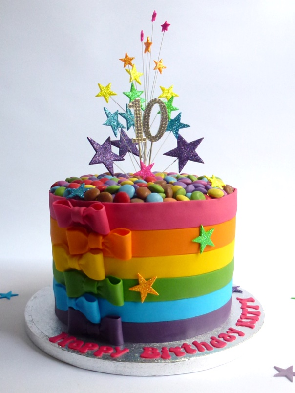 Rainbow Cake   Karen's Cakes