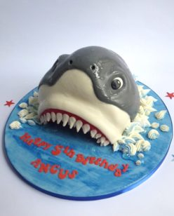 Jaws of a shark cake