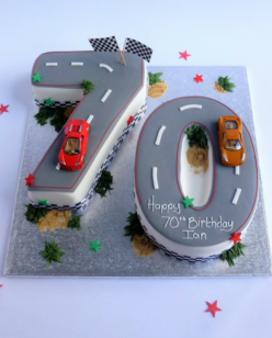 Double Number Car Cake