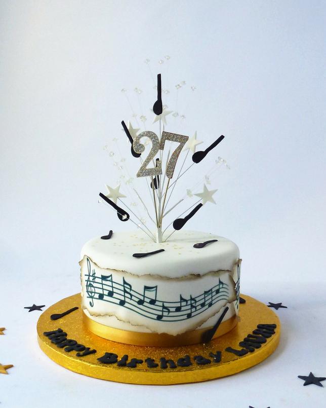 Single Tier Round Music Cake Karen S Cakes