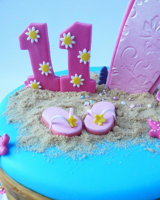 Remarkable Surfs Up Birthday Cake Karens Cakes Birthday Cards Printable Inklcafe Filternl