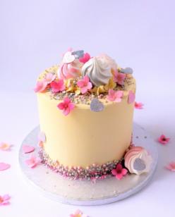Pretty buttercream birthday cake