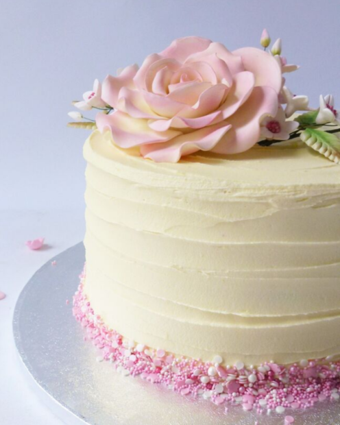 Buttercream with sprinkles