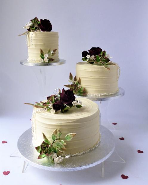 3 tier Buttercream wedding cake