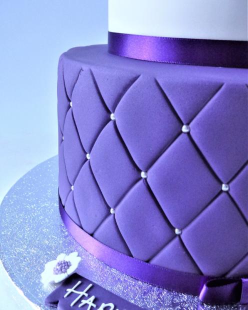 Purple quilting