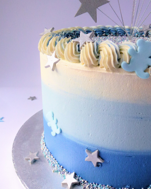 Blue umbre buttercream