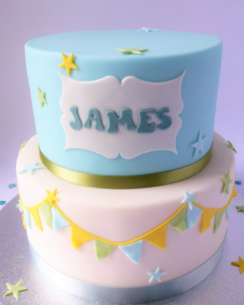 Fondant lettering and bunting