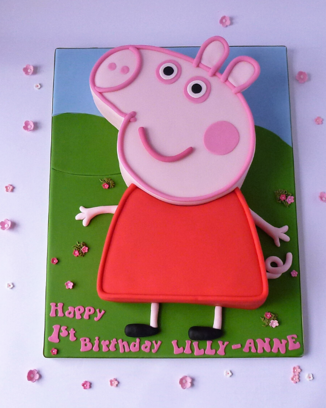 Awesome Peppa Pig Karens Cakes Personalised Birthday Cards Bromeletsinfo