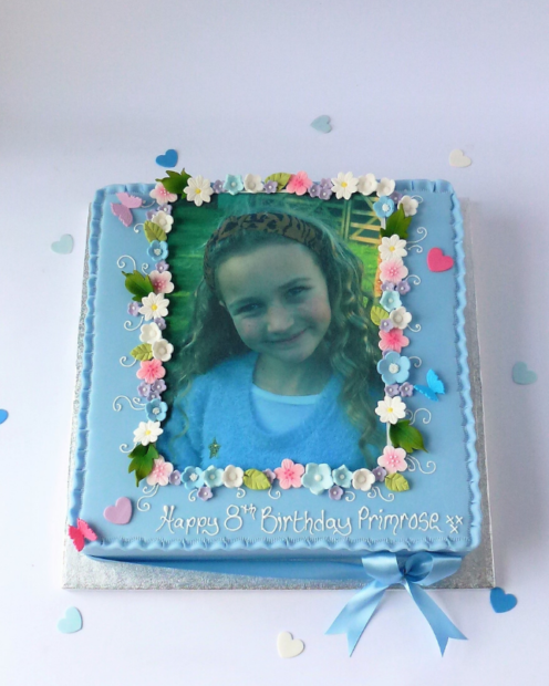Photo birthday cake