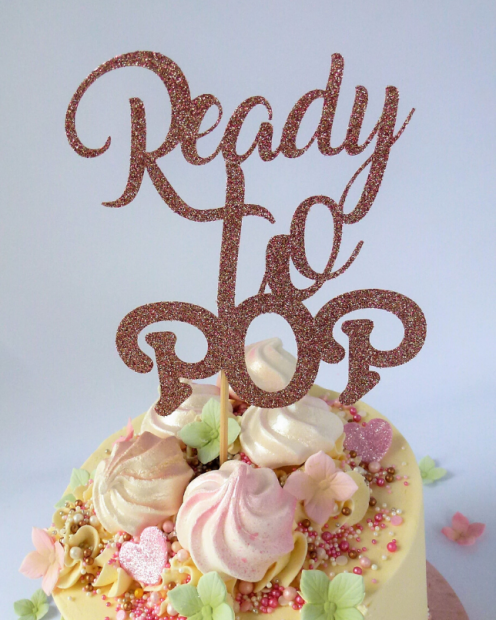 Rose gold ready to pop topper