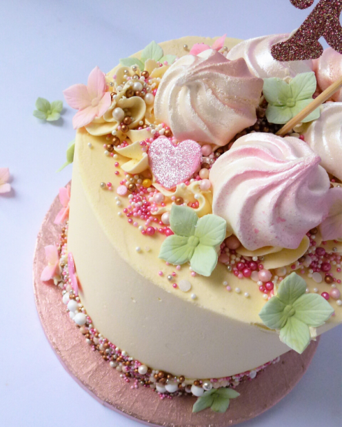 Pretty baby shower cake