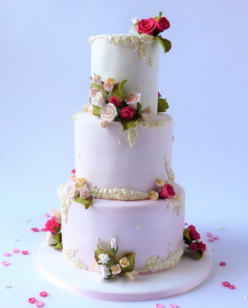 3 tier boho wedding cake