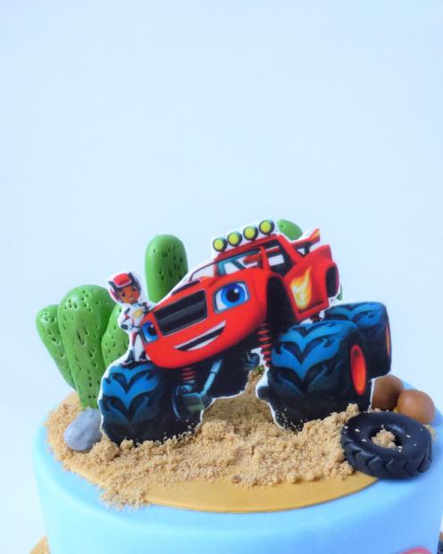 Monster truck cake topper
