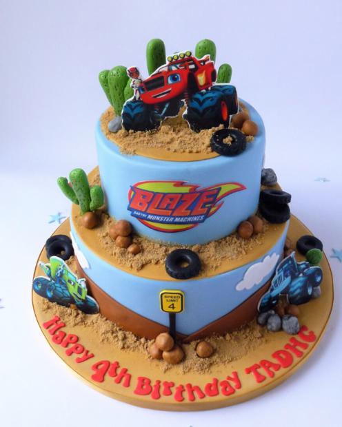 2 tier kids birthday cake