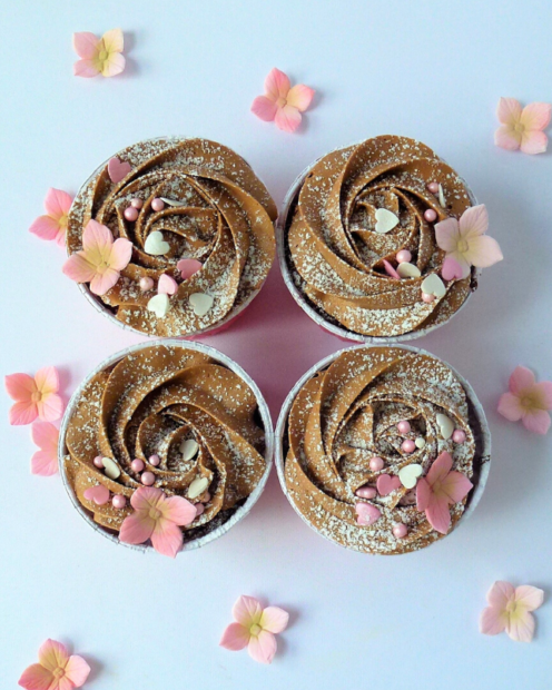 Pretty chocolate cupcakes