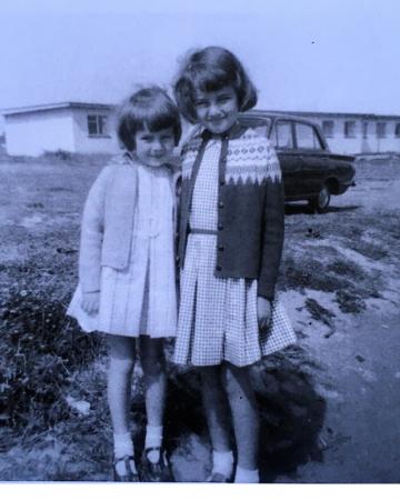 1960's photo 2 little girls