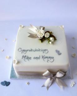 Small square wedding cake