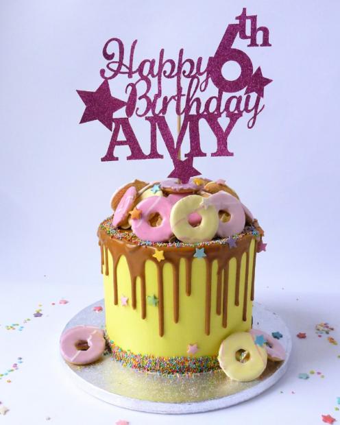Party rings birthday cake