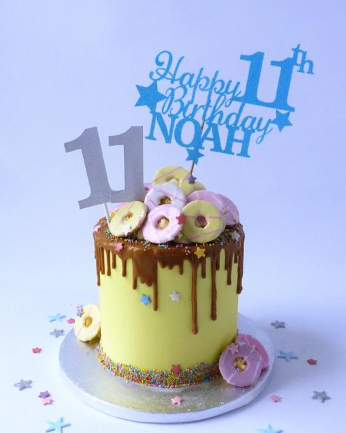 Birthday biscoff cake
