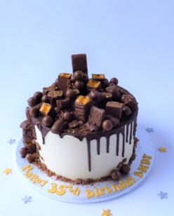 Chocolate covered cake