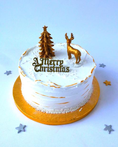 Royal iced Christmas cake
