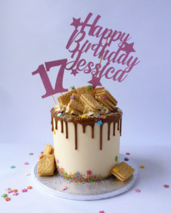 13th birthday drip cake