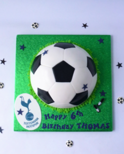 Half football birthday cake