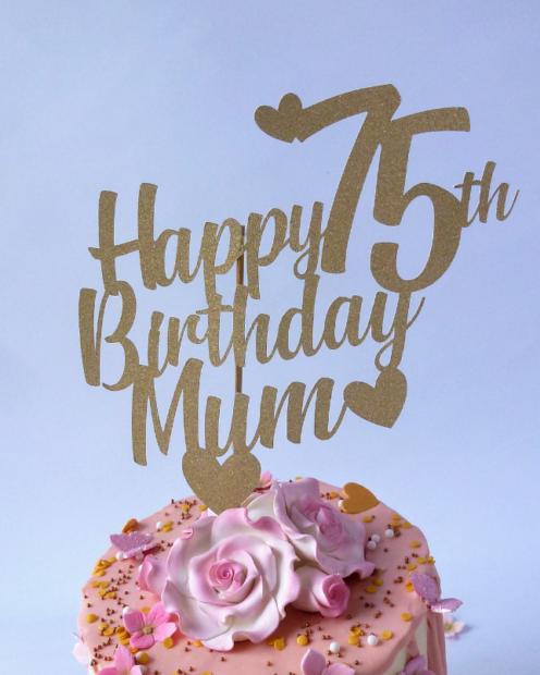 Birthday cake topper gold