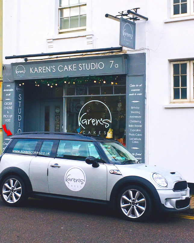 Cake shop with matching car