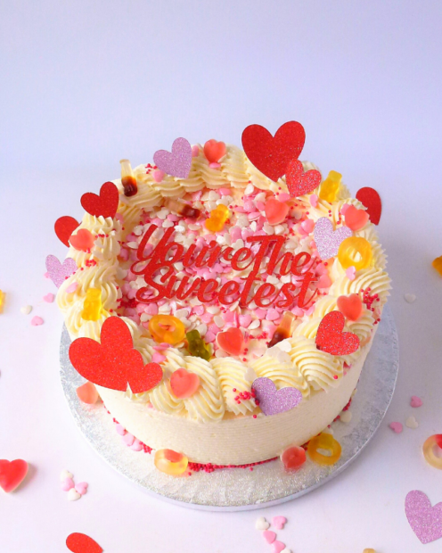 Buttercream Valentines cake