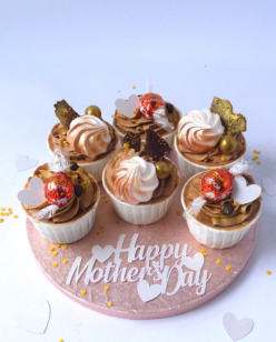 Mother's day chocolate cupcakes