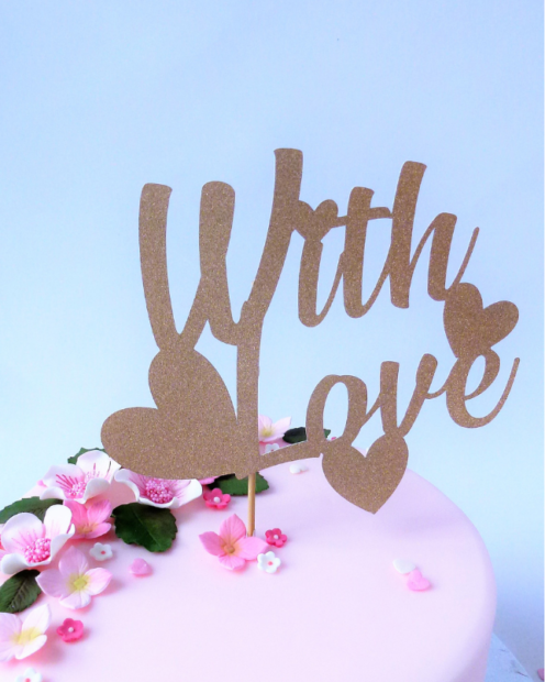 With love cake topper