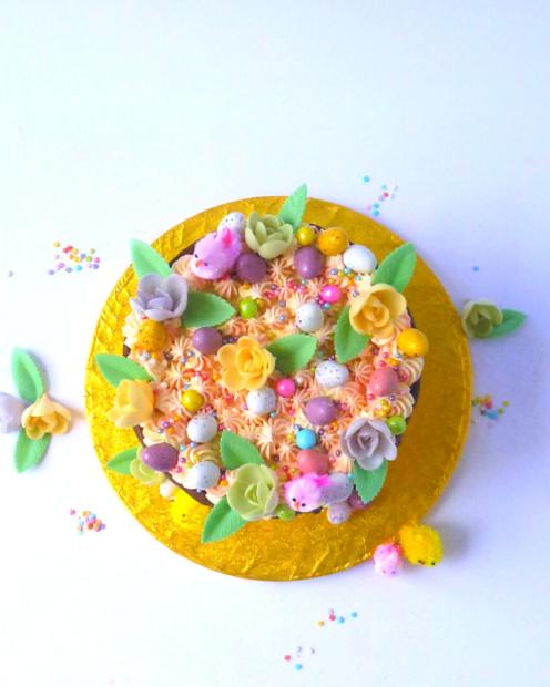 Multi coloured Easter cake