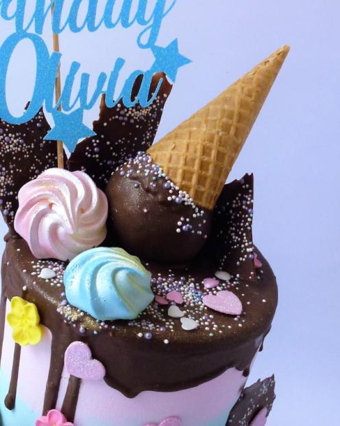 Ice cream cone cake topper