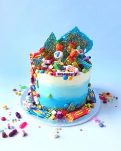 Retro sweets celebration cake