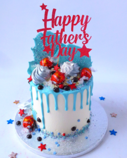 Cake for Fathers day with Lindor chocolate