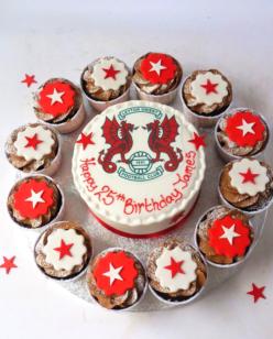Sports logo cake
